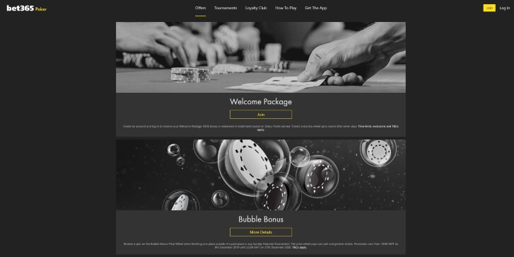 Ongoing promotional deals at Bet365 Poker